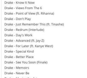 [Rumeur] Liste de chansons de DRAKE et KANYE WEST qui pourraient leaker sous peu