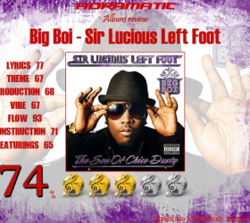 BIG BOI – Sir Lucious Left Foot The Son Of Chico Dusty (review – 74%) – 2010