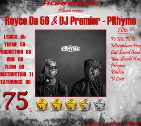 Royce Da 5'9″ & DJ Premier – PRhyme (review – 75%)