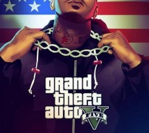 Game sur une affiche promo de GTA V