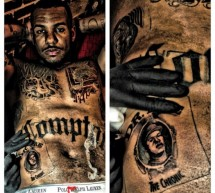 Game se fait tatouer les covers de The Chronic et The Documentary (photos)