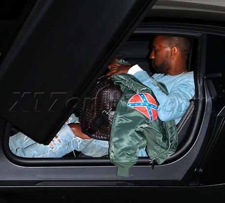 EXCLU Kanye West wears Confederate flag