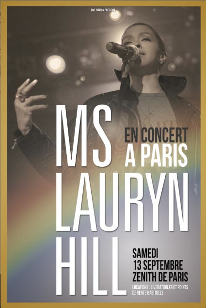 MS. LAURYN HILL - Zénith de Paris, 13 septembre 2014