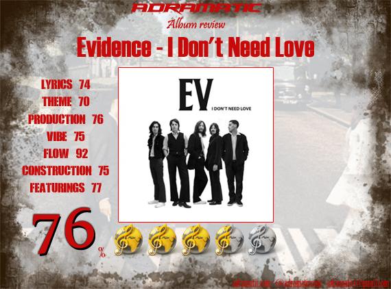 Evidence-IDontNeedLove