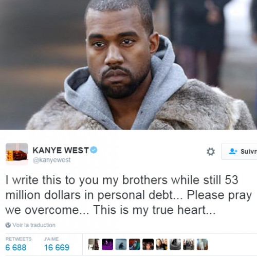 kanyewestdette53millions